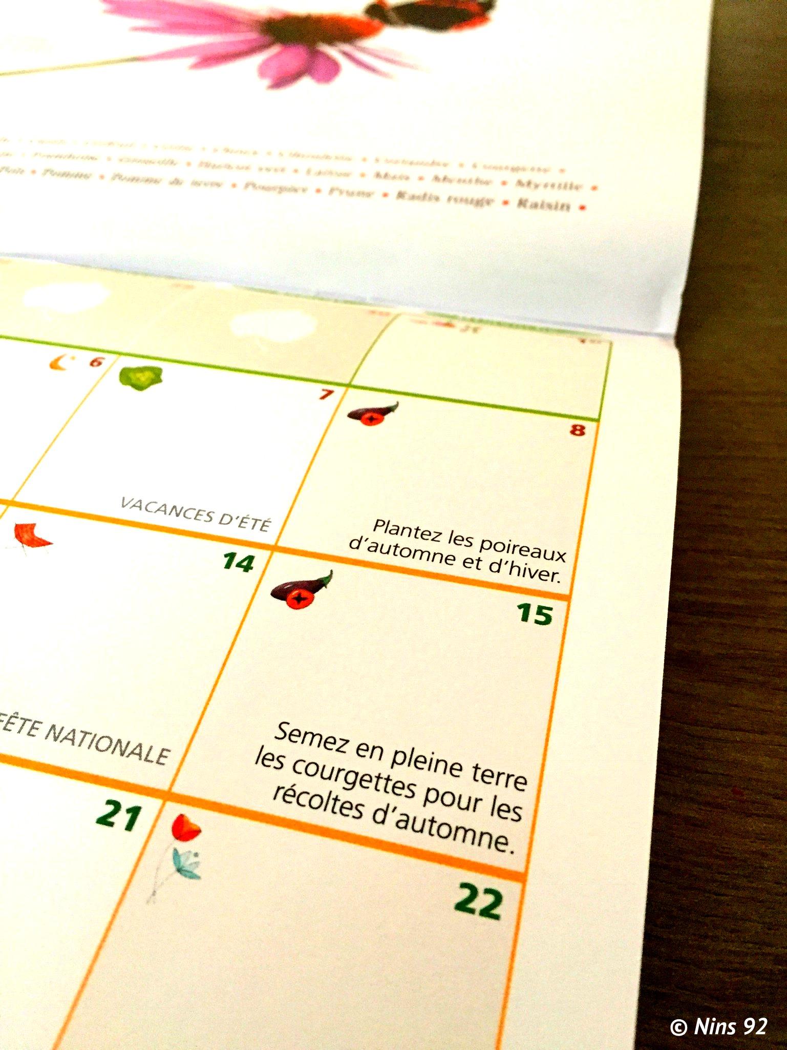le calendrier 2018 du potager bio – dans chaque petite chose il y a
